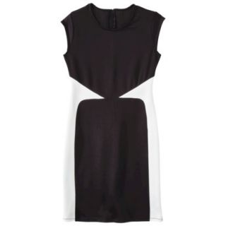 Mossimo Womens Colorblock Scuba Dress   Black S
