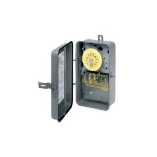 Intermatic T101R Timer, 125V SPST 24Hour Rain Tight Mechanical Time Switch