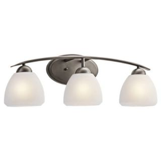 Kichler 45119OZ Bathroom Light, Transitional Bath 3Light Fixture Olde Bronze
