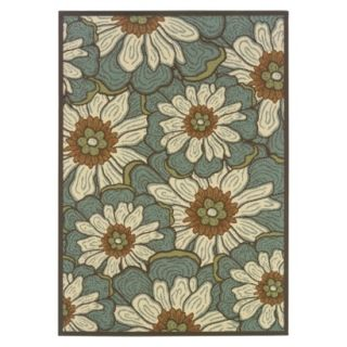 Poppy Indoor/Outdoor Area Rug   Green (67x96)
