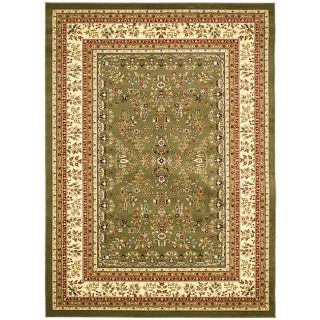 Lyndhurst Collection Oriental Sage/ivory Rug (53 X 76) (GreenPattern OrientalMeasures 0.375 inch thickTip We recommend the use of a non skid pad to keep the rug in place on smooth surfaces.All rug sizes are approximate. Due to the difference of monitor