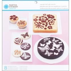 Vintage Girl 8 piece Cake And Cupcake Stencils