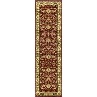 Lyndhurst Collection Majestic Red/ Ivory Runner (23 X 12)