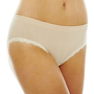 THE BODY Elle Macpherson Intimates Seamless Bikini Panties, Toast Almond Prist