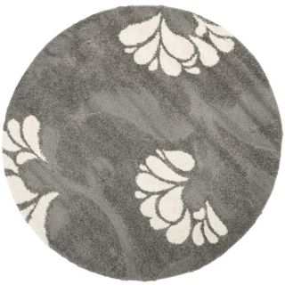 Safavieh Florida Shag Light Gray Rug SG459 8013 Rug Size Round 67