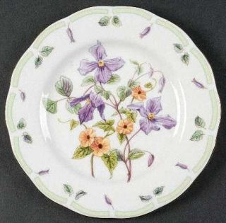 Royal Albert Botanical Teas Salad Plate, Fine China Dinnerware   Floral Motifs,