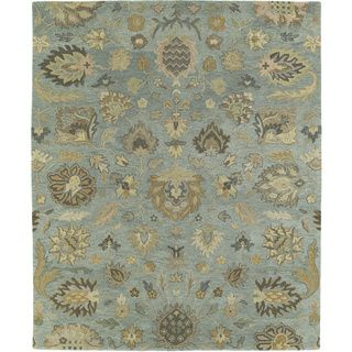 Christopher Kashan Hand tufted Light Blue Rug (9 X 12)