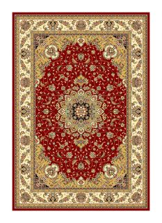 Lyndhurst Collection Red/ Ivory Rug (4 X 6)