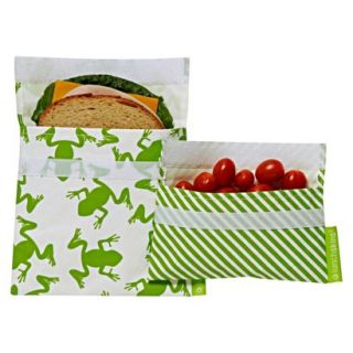 Lunchskins 2 Frog Multipack Bag   Green