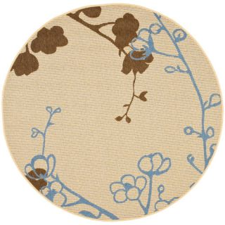 Safavieh Courtyard Natural Brown/Blue Rug CY4038B Rug Size Round 53