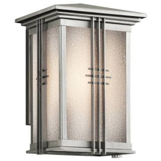 Kichler 49158SS Outdoor Light, Arts and Crafts/Mission Wall Lantern 1 Light Fixture Stainless Steel