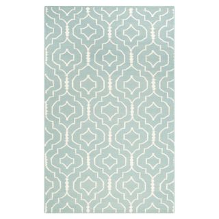 Safavieh Dhurries Light Blue/Ivory Rug DHU637C Rug Size 4 x 6