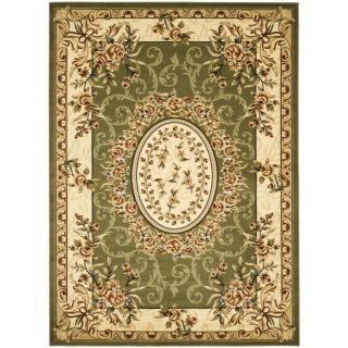 Safavieh Lyndhurst Collection Aubussons Sage/ Ivory Rug (9 X 12)
