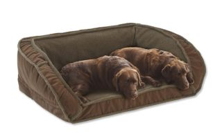 Fleece Deep Dish Dog Bed With Memory Foam / Xlarge Dogs 120+ Lbs., Multiple Dogs., Chocolate,
