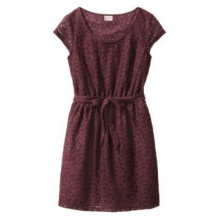 Merona Womens Lace Sheath Dress   Berry Cobbler   L