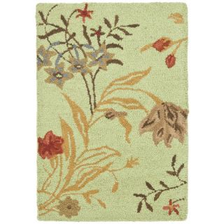 Safavieh Blossom Light Green/Multi Rug BLM919A Rug Size 2 x 3