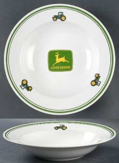 Gibson Designs John Deere (Tractor) Large Rim Soup Bowl, Fine China Dinnerware