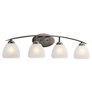Kichler 45120OZ Bathroom Light, Transitional Bath 4Light Fixture Olde Bronze