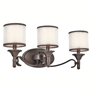 Kichler 45283MIZ Bathroom Light, Transitional Bath 3Light Fixture Mission Bronze