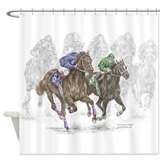 Thoroughbred Horse Race Shower Curtain  Use code FREECART at Checkout