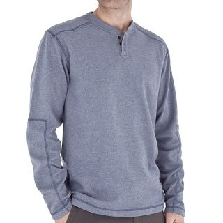 Royal Robbins Alpine Thermal Henley Shirt   UPF 50+  Long Sleeve (For Men)   DEEP MARINE (L )