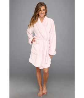 Josie Solid Plush Wrap Womens Robe (Pink)