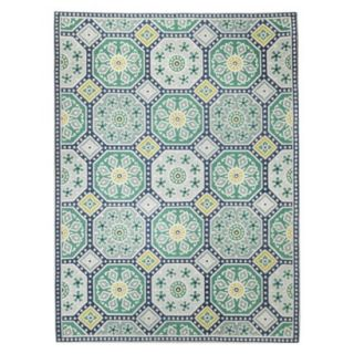 Threshold Mosaic Tile Area Rug   Blue (5x7)