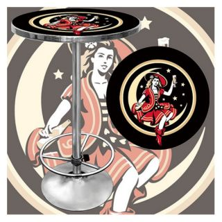 Trademark Miller High Life Girl in the Moon Pub Table Multicolor   MV2000