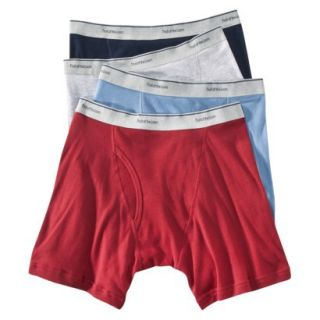 Fruit of the Loom Mens Boxer Briefs 4 Pack   Assorted Colors L