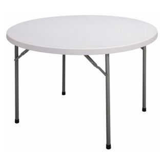 Correll 48 in. Round Blow Molded Folding Banquet Table Multicolor   FS48R 23