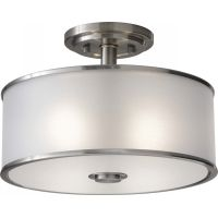 Feiss SF251BS Casual Luxury 2   Light Indoor Semi Flush Mount