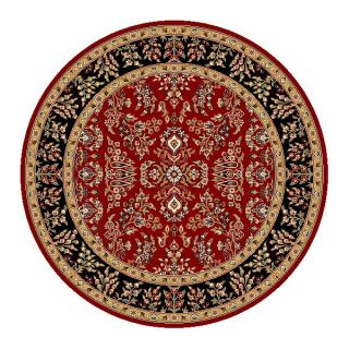 Lyndhurst Collection Red/ Black Rug (5 3 Round)