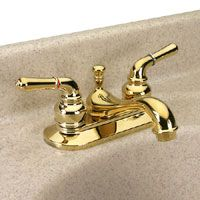 Dynasty Hardware DYN 942135 PB Tea Spout Two Handle Lavatory Faucet