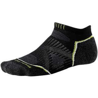 SmartWool PhD Run Light Socks   Merino Wool  Below the Ankle (For Men and Women)   BLACK (XL )