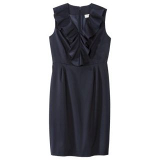 Merona Petites Sleeveless Sheath Dress   Blue 6P