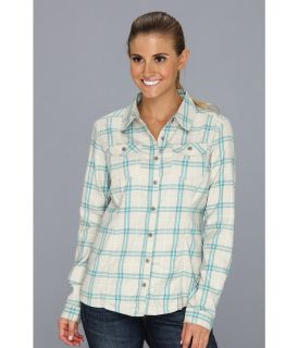 Mountain Hardwear Trekkin Flannel L/S Shirt Womens Clothing (Bone)