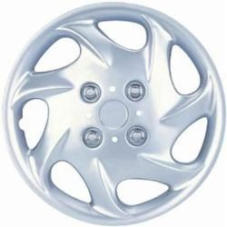Design Silver Abs Silver 15 inch Steel Wheel Hub Caps (set Of Four) (When checking your tire size, do not measure the hub cap. It will give a larger size than needed. For the correct size, it goes by the tire size. Check the sidewall of your tire for a se