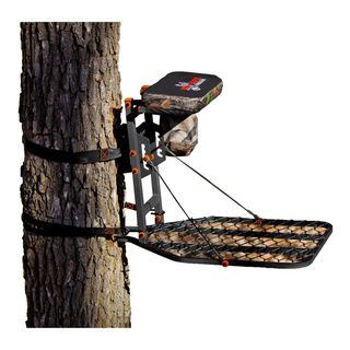 Big Game Treestands Platinum Collection Phoenix Hang on Stand (BlackDimensions 34x20x27Weight 20 lbsFeaturesConstruction  Steel Foot platform style Wide mouth expanded metal Foot platform 20 inches wide x 27 inches deep Seat platform 14 inches wide
