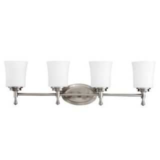 Kichler 5362NI Bathroom Light, Transitional Bath 4Light Fixture Brushed Nickel