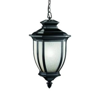 Kichler 9843BK Outdoor Light, Transitional Pendant 1 Light Fixture Black (Painted)