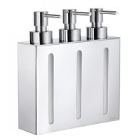 Smedbo FK259 Outline Wall Mount Soap or Lotion Dispenser with 3 Containers