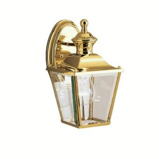 Kichler 9711PB Outdoor Light, Classic (Formal Traditional) Wall 1 Light Fixture Polished Brass