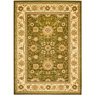 Lyndhurst Collection Majestic Sage/ Ivory Rug (53 X 76) (GreenPattern OrientalStyle TraditionalMeasures 0.375 inch thickTip We recommend the use of a non skid pad to keep the rug in place on smooth surfaces.All rug sizes are approximate. Due to the dif