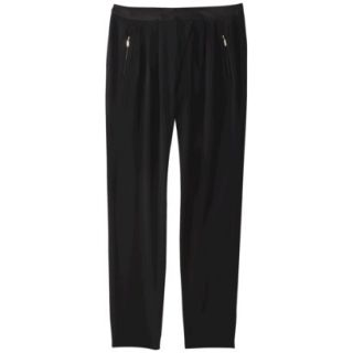 Mossimo Womens Drapey Pleat Pant   Black 4