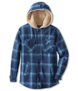 Rip Curl Kids Almonte L/S Flannel Boys Coat (Navy)
