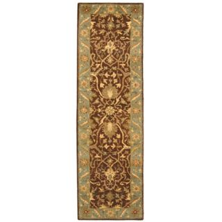 Safavieh Antiquities Brown/Green Rug AT14F Rug Size Runner 23 x 8