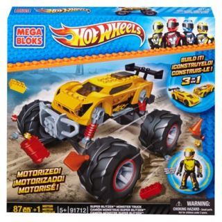 Mega Bloks Hot Wheels Super BlitzenTM Monster Truck  Yellow