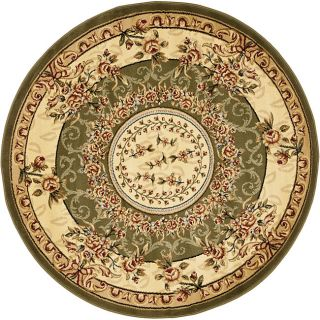 Lyndhurst Collection Aubussons Sage/ Ivory Rug (5 3 Round) (GreenPattern FloralMeasures 0.375 inch thickTip We recommend the use of a non skid pad to keep the rug in place on smooth surfaces.All rug sizes are approximate. Due to the difference of monito