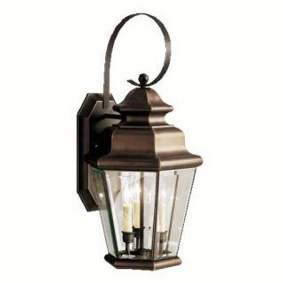 Kichler 9677OZ Outdoor Light, Transitional Wall 3 Light Fixture Olde Bronze