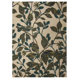 Threshold Space Dyed Vine Area Rug   Blue/Green (7x10)